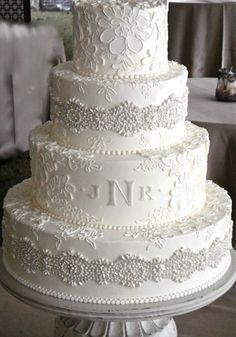 White Wedding Cakes Wedding Cakes by Jim Smeal Fondant Wedding Cakes, Wedding Cakes With Cupcakes, White Wedding Cakes, Elegant Wedding Cakes, Elegant Cakes, Wedding Cake Designs, Purple Wedding, Gold Wedding, Rustic Wedding