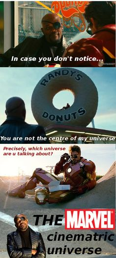 fun funny humor avengers ironman nick fury donut fact fans