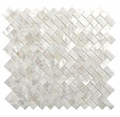 Dazzle Mosaic Genuine Mother Of Pearl Oyster Herringbone Shell Mosaic Tile  For Kitchen Backsplashes, Bathroom Walls, Spas, Pools By Dazzle Mosaic  (Pack Of 5 ...