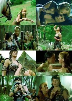 Edited scene caps of 'A Day in the Life'. The splash fight in this episode was funny! Xena Warrior Princess Cast, Xenia Warrior Princess, Princess Videos, Artist Film, Tauriel, Dramas, Scream Queens, Alternative Movie Posters, 90s Nostalgia