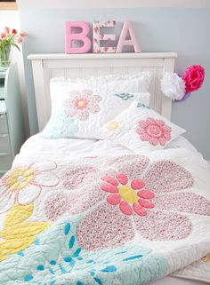 Shop for Babyface designer childrens bedding and nursery bedding ranges. Hand-made cotton duvet sets and quilts. Wide range of cot bed, single and double bedding sets available and matching room accessories. Cot Bed Quilt, Quilt Bedding, Linen Bedding, Comforter, Bright Quilts, Single Quilt, Queen Sheets, Floral Bedding, Bedding