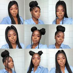 Box Braids Hairstyles For Black Women, Black Girl Braids, Braids For Black Women, Girls Braids, Baddie Hairstyles, My Hairstyle, Girl Hairstyles, High Ponytail Hairstyles, Curly Hair Styles
