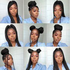 Cute Box Braids Hairstyles, Box Braids Hairstyles For Black Women, Braids Hairstyles Pictures, Twist Braid Hairstyles, Black Girl Braids, African Braids Hairstyles, Braids For Black Hair, Girls Braids, Twist Braids