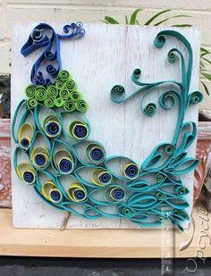 paper towel roll art into bohemian rustic peacock, crafts