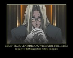 "Sir Integra Fairbrook Wingates Hellsing, from ""Hellsing Ultimate"""
