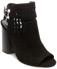 Madden Girl Addy Peep-Toe Block-Heel Dress Sandals