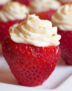 Coconut whipped cream stuffed  strawberries. Paleo friendly.