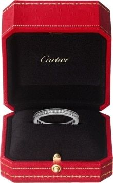 1895 wedding band: 1895 wedding band, width mm, platinum set with 19 brilliant-cut diamonds totaling carat. Cartier Wedding Bands, Platinum Wedding Rings, White Gold Wedding Bands, Cartier Men, Cartier Jewelry, Mr Mrs, Dimond Ring, Pink And Gold, Diamond Cuts