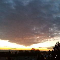 Mystic winter evening.  #winter #evening #mystic #sundown #sky #clouds #armageddon #sonnenuntergang #wolken #himmel #munderkingen