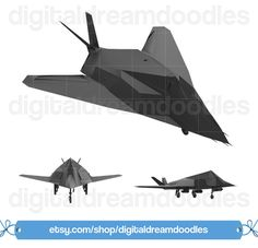 Nighthawk Aircraft Clipart, Night Hawk Art, Stealth Aircraft Image, Attack Aircraft Picture, Military F-117 F117 Graphic, Digital Download