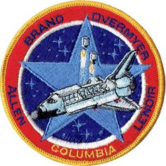 "STS-107 NASA Space Shuttle Columbia Embroidered Patch Iron On 3 3//4/"" x 5/"""