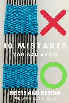 Here are 10 common mistakes that beginner weavers can avoid. In this tutorial learn how to fix common weaving problems on a frame loom. Weaving Loom Diy, Tablet Weaving, Hand Weaving, Weaving Designs, Weaving Projects, Art Projects, Loom Patterns, Inkle Weaving Patterns, Stitch Patterns