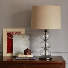Abacus Table Lamp - Clear #WestElm- living room for sofa table or bedroom