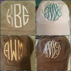 Caps with monogram  $14.50 www.southernsassydesigns.com