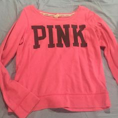 Victoria's Secret Pink long sleeve Hardly worn, in good condition! Victoria's Secret Tops Tees - Long Sleeve