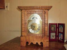 Tiger maple moon dial clock