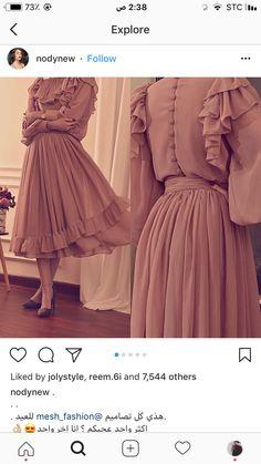Modest Fashion Hijab, Abaya Fashion, Muslim Fashion, Women's Fashion Dresses, Dress Outfits, Hijab Evening Dress, Hijab Dress Party, Hijab Style Dress, Evening Dresses