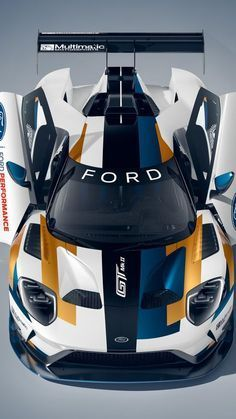 Ford GT Mk II is part supercar, part race car, all awesome - CNET Luxury Sports Cars, Exotic Sports Cars, Best Luxury Cars, Exotic Cars, Racing Wallpaper, Sports Car Wallpaper, Carros Lamborghini, Lamborghini Cars, Lamborghini Gallardo