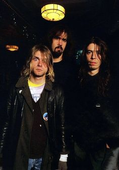 Kurt Cobain, Krist Novoselic and Dave Grohl #Nirvana  #NIRVANA [Kurt Cobain, Krist Novoselic, Dave Grohl]
