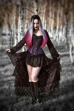 Model/MUA: Kali Noir Diamond Photo: Vanic Photography Corset and skirt: Burleska Corsets Wig: Black Candy Fashion Welcome to Gothic and Amazing | www.gothicandamazing.com