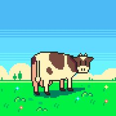 Pink Floyd - Atom Heart Mother, 1970. I will make a series of album covers in pixel art.