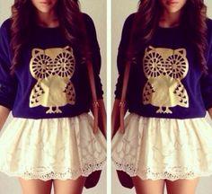 Owls..... And skirt