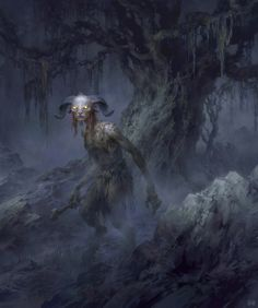 Pan by FLOWERZZXU satyr goatman goat swamp forest monster creature beast animal | Create your own roleplaying game material w/ RPG Bard at www.rpgbard.com | Writing inspiration for Dungeons & Dragons DND Pathfinder PFRPG Warhammer 40k Star Wars Shadowrun Call of Cthulhu and d20 fantasy science fiction scifi horror design | Not our art: please click artwork for source