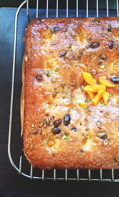 Apricot Munchy Seed Cake