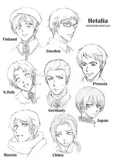 anime hetalia coloring pages - photo#36