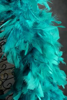 A teal feather boa is a fun idea for a teacher or parent to wear during a #foodallergy awareness presentation #tealtakeover