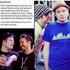 :3 I strive to be like Pete, but I'm totally Patrick