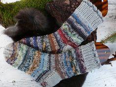 scrap sock yarns, held double  Ravelry: sweetrosalie's Allerleirauh
