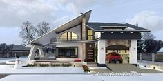 Luxury Villa Inspired From Macedonia – Amazing Architecture Magazine Bungalow House Design, House Front Design, Modern House Design, Architecture Magazines, Amazing Architecture, Architecture Design, House Plans With Pictures, House Design Pictures, House Designs In Kenya