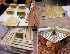 Fabulous Diy Coffee Tables 20 Diy Wooden Crate Coffee Tables Guide Patterns - Coffee tables serve a selection of uses. Wine Crate Coffee Table, Coffee Table From Pallets, Pallet Tables, Coffee Table Upcycle, Diy Projects Coffee Table, Diy Storage Coffee Table, Pallet Furniture Coffee Table, Wooden Crate Furniture, Coffee Table Cloth