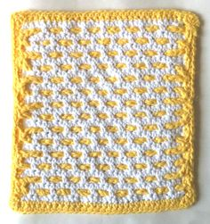 Buttered Waffles Crochet Dishcloth