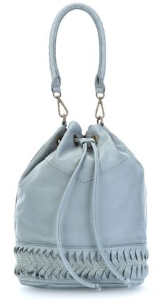 wardow.com -  #bag #blue #colour #Liebeskind Laser2 Debby Beuteltasche Leder hellblau 34 cm
