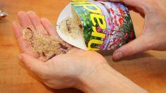 Vyrobte si vrecká na pozbierané semienka
