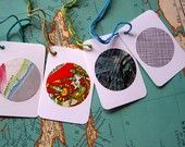 upcycled tags (http://www.etsy.com/shop/paragraphcove)