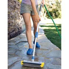 Deck and Patio Water Brush No backbreaking scrubbing! Smart, easy way to clean.