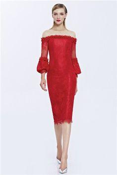 Inmansa  women birthday formal bridesmaid banquet red cookie dress