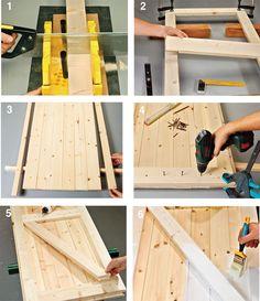 DIY wooden window frames – DIY House ideas - Housing Projects for World Wooden Window Frames, Wooden Windows, Wooden Doors, Wooden Fence, Woodworking Techniques, Woodworking Projects, Wood Projects, Classic Doors, Modern Door