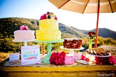 Ummm, I just fell slightly in love with a dessert table. Wow.