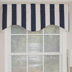 Cabana Stripe Curtain Valance