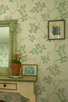 Based on an early 18th century silk pattern by James Leman, The Ringwold Papers have been sympathetically adapted by Farrow & Ball