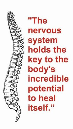 chiropractic has nothing to do with pain, but everything to do with our ability to express our optimum potential