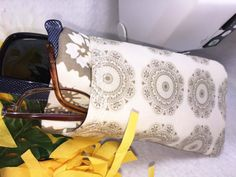 Double Eyeglass Case Quilted w/ Embroidery by PhenomenalWomenShop