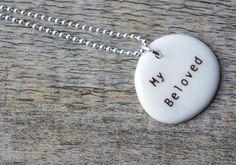 My Beloved Necklace  www.shevongantceramics.com  $42  #wedding