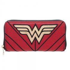 Wonder Woman DC Comics Large Zip Around Wallet Pouch Clutch Suit Up WW Stars #Bioworld #ZipAroundWallet