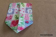 diy segnalibro origami a forma di cuore PASSO 5