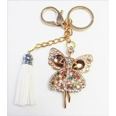 Handmade Angel Ballerina Rhinestone Keychain and Purse Hanger Generous Gift  Looking out to buy  Handmade Angel Ballerina Rhinestone Keychain and Purse Hanger Generous Gift?This is a Handmade Beautiful Large Grade A Rhinestone Key chain and Purse Hanger.